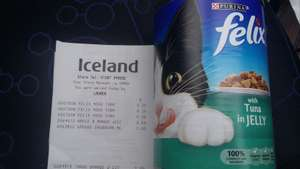 Felix 400g tin cat food 25p @ Iceland instore