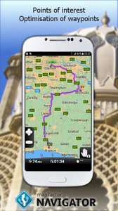 MapFactor GPS Navigation Maps free (and updates itself to it's latest Map's for free too), at Google Play