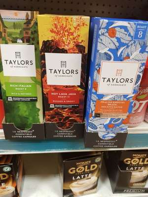 Taylor's of Harrogate coffee capsules x10 - £1 instore @ Poundworld