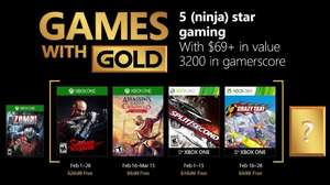 February's Games with Gold (Shadow Warrior / Assassin's Creed Chronicles India / Split Second / Crazy Taxi)
