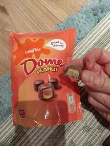 Aldi Dairyfine Dome Milk Chocolates with Peanut Filling - basically pseudo Reese's Mini Cups - 85p for 126g bag