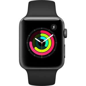 Apple Watch Series 3 - 42mm Space Gray Aluminium Case with Black Sport Band - MQL12 at Eglobal for £282.99