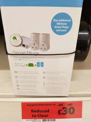 Energenie MIHO037 MiHome Starter Pack @ sainsbury's Lincoln was, £69 now £30