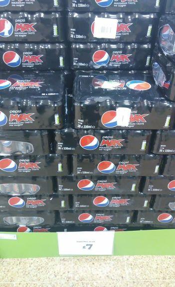 30 cans Pepsi Max Asda £7 instore