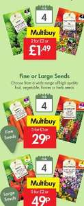 LIDL Seeds - Fruit, Vegetable, Flower or Herbs - Multi buy - 20p - 40p - £1 per pkt