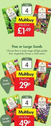 LIDL Seeds - Fruit, Vegetable, Flower or Herbs - Multi buy - 20p - 40p - £1 per pkt