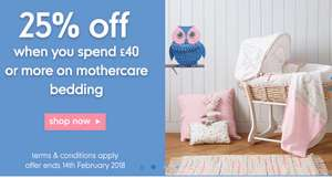 Mothercare, 25% off Little Bird range, when you spend £40 or more (Free C&C)