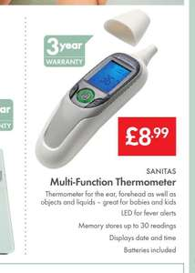 Sanitas Multi-Function Thermometer 8.99 from Lidl on 4th February