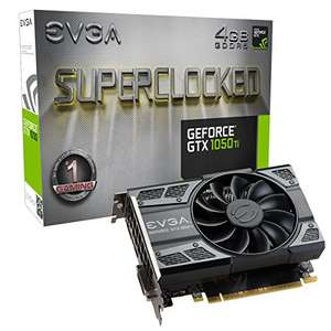 EVGA (04G-P4-6253-KR) NVIDIA GeForce GTX 1050 Ti SC (Single Fan) Gaming, 4GB GDDR5, DX12 OSD Support (PXOC) Graphics Card £132.97 with code @ Amazon