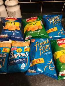 Walkers Crisps/French Fries (90g) 50p @ Fultons (Golden Wonder Chippies 25p / Expire 03/03/18)