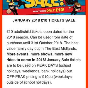 TWINLAKES tickets for £10