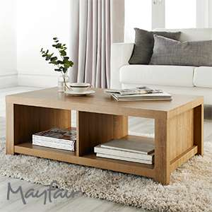 Mayfair Chunky Wooden Coffee Table - £39.99 at Home Bargains (Side table also available for £24.99)