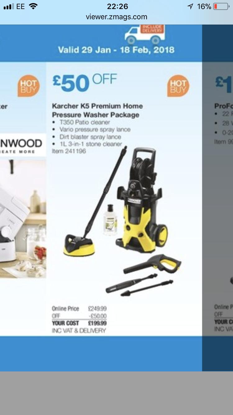 Karcher K5 Home Premium Pressure Washer £199.99 @ Costco