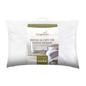 Snuggledown Wash and Dry Me Duck Down Pillow £31.22 @ Amazon