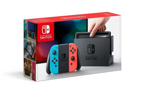 Nintendo Switch console Neon / Blue or Grey £259 I Nintendo Switch Grey Console + Fifa 18 or Rocket League Collectors £279 I  Nintendo Switch Console console Neon / Blue + 2 Games including Zelda and Mario + Rabbids  £319 @ Tesco Direct