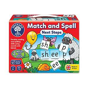 Orchard Toys Match and Spell Next Steps Board Game  £5.62 (Prime) / £10.37 (non Prime) at Amazon
