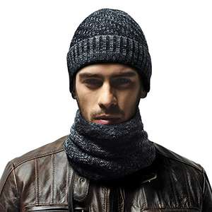 RooLee Man's Black Knitted Hat and Scarf Set £5.99 Prime/ £9.98 None Prime Sold by Wallis EU and Fulfilled by Amazon