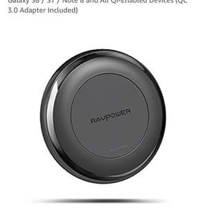 Ravpower wireless chargers iPhone X fast charge 7.5w plus 2nd charger £20.99 Sold by Sunvalleytek-UK and Fulfilled by Amazon.