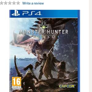 Monster hunter world £39 at Tesco with code