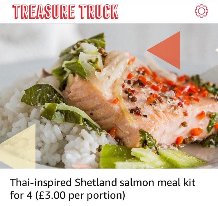 Amazon Treasure Truck - salmon meal kit  for 4 - £11.99