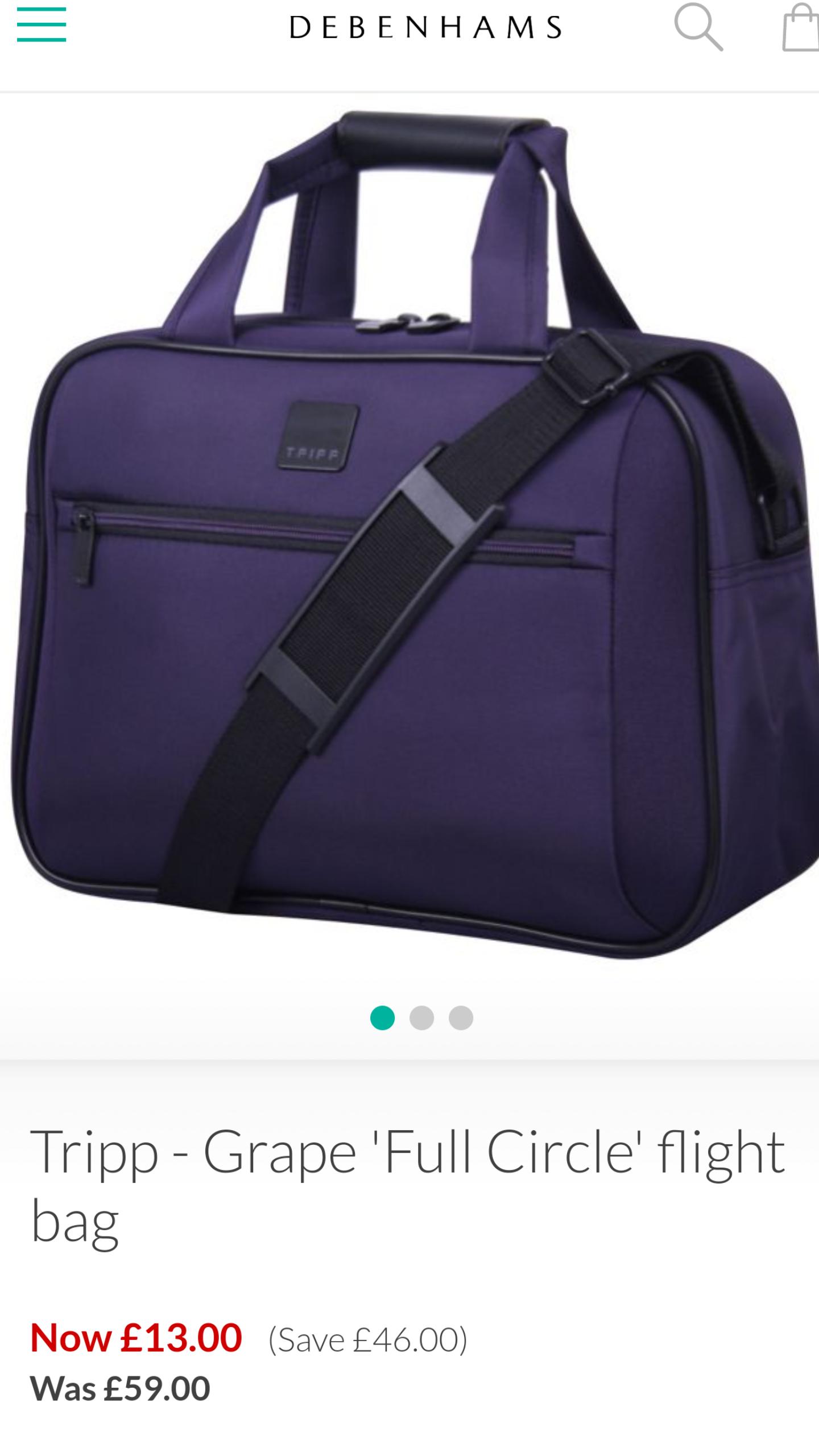 Tripp-Grape 'Full Circle' flight bag - Debenhams - £13