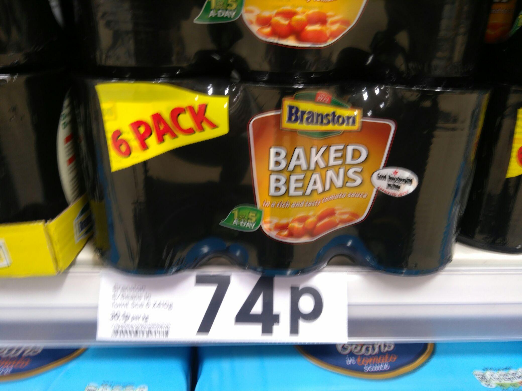 6 X Branston baked beans 74p instore in Tesco Hoyland nr Barnsley