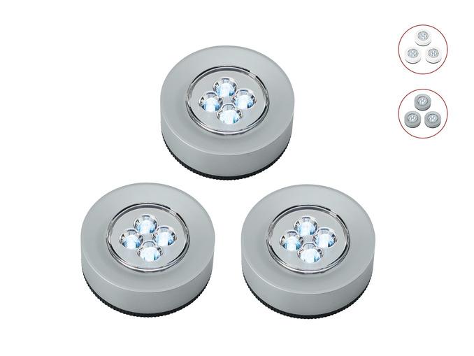 Livarno Lux LED Lights (3 pieces)(2 colours) £4.99 @ LIdl
