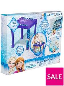 Disney Frozen 3 in 1 Deluxe Tea Party Set - includes Play Table + Paint Your Own Tea Set + Paint Your Own Figure was £24.99 now £9.99 C+C @ Very