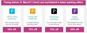 Register  @ Mygatwick portal and get atleast 10% off on airport car park bookings if travelling before the 31st
