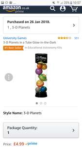 University games Mini 3d universe £4.99@ Amazon ( glows in the dark)