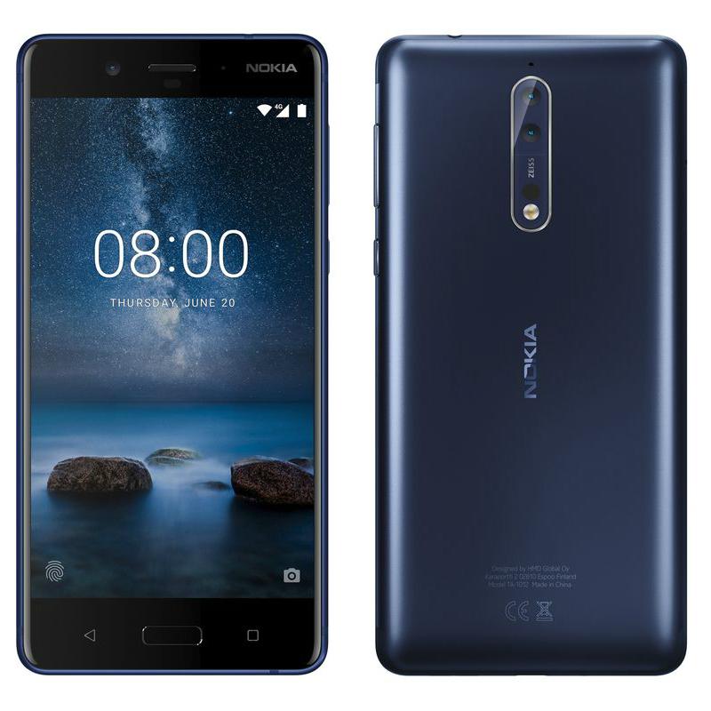Nokia 8 4GB Ram 64GB Dual Sim SIM FREE/ UNLOCKED - Blue £292.99 - eGlobal Central