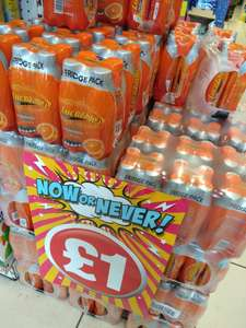 Lucozade Orange 4 pack x 380ml only £1 @ Poundland