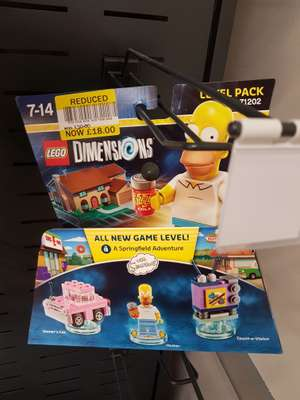 Lego dimensions Simpsons Level pack £18 @ Tesco Wigan instore