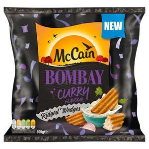 McCain Bombay Curry Ridge Cut Wedges 600g £1 at Morrisons