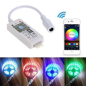 30% off on Mini RGB Wifi Smart Controller ,Working for Android / IOS Mobile Phone Free App,16 Million Colors ,20 Dynamic Modes ,Support Sound Activated Static Color Changing for LED Strip Light £6.99 prime / £10.98 non prime Sold by TOMSHOP and Fulfi