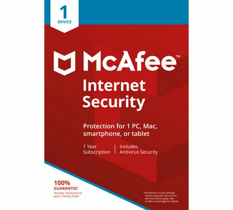 McAfee Internet Security 1 Year 1 User £4.99 @ Argos