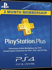 PlayStation Plus UK 90 Days (3 Month) Membership Voucher Code £15.10