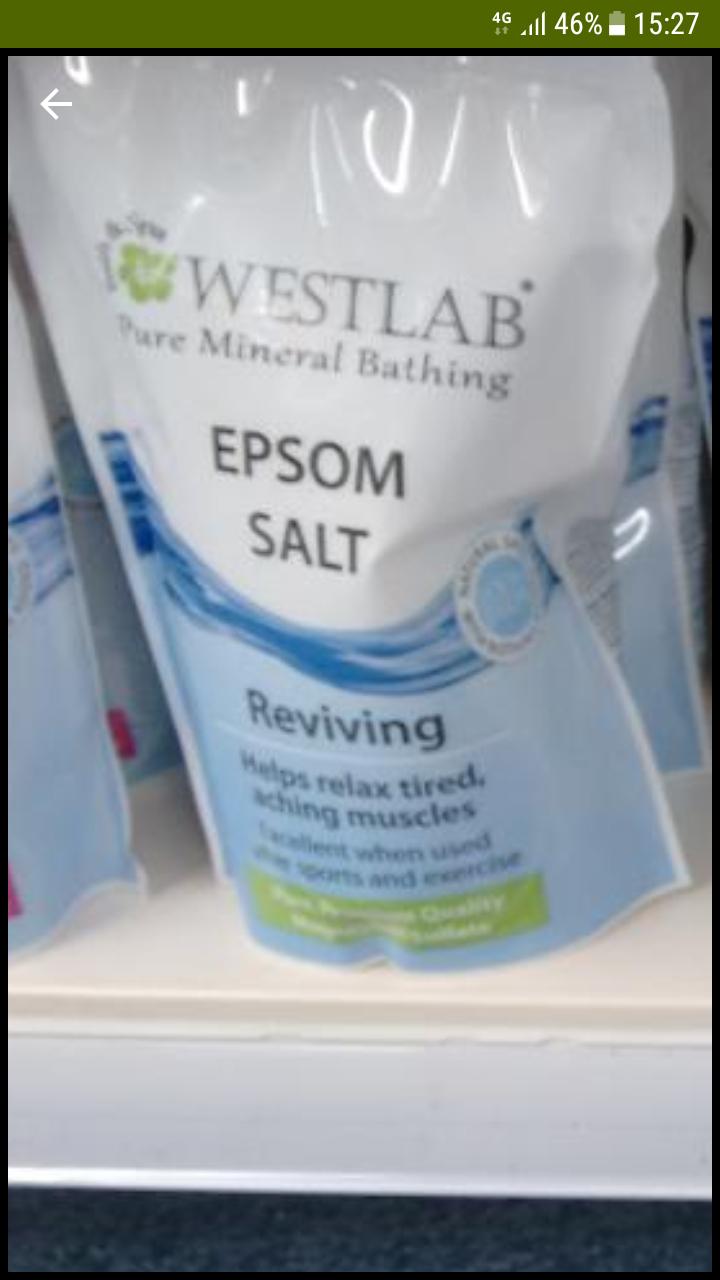 EPSOM SALTS £1 @ poundland original, eucalyptus and lavander variety 450g