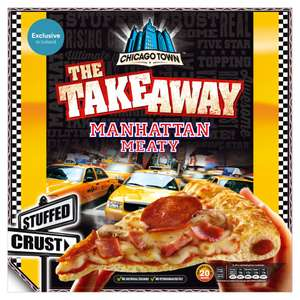 Chicago Town  Takeaway pizza  Manhattan meaty, pepperoni plus, four cheese 630g - 655g   £2.50 @ Iceland