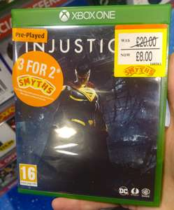 [Xbox One/PS4] Injustice 2 / Uncharted: The Lost Legacy (preowned) - £8 AND on 3 for 2 at Smyths (in-store)