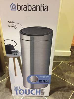 Brabantia touch bin 30L Matt steel £29 @ Morrisons instore - Ilkeston