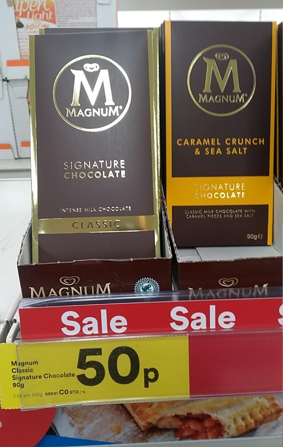 Few Deals @ Iceland: Magnum 90g Classic / Caramel Bars 50p / Guinness Steak Sauce 75p / Tabasco Pepper Sauce 57Ml 75p / Gino D'Acampo Everyday Balsamic Vinegar 500g £1
