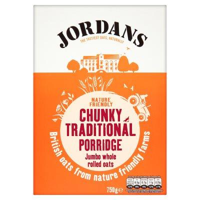 750g Jordans Porridge - Chunky Traditional Jumbo oats (orange) /Quick & creamy (red) £1 @ Waitrose