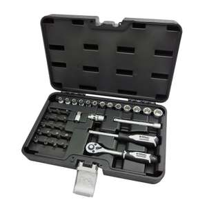 "Mac Allister 1/4"" drive 35 piece socket set £10 (free click and collect) @ B&Q"