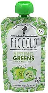 Amazon Piccolo Stage 1 Spring Greens Pure with a Hint of Mint 100 g (Pack of 5). £3.46 or £3.10 delivered on S&S OR add on item at £3.65 - Add-on Item