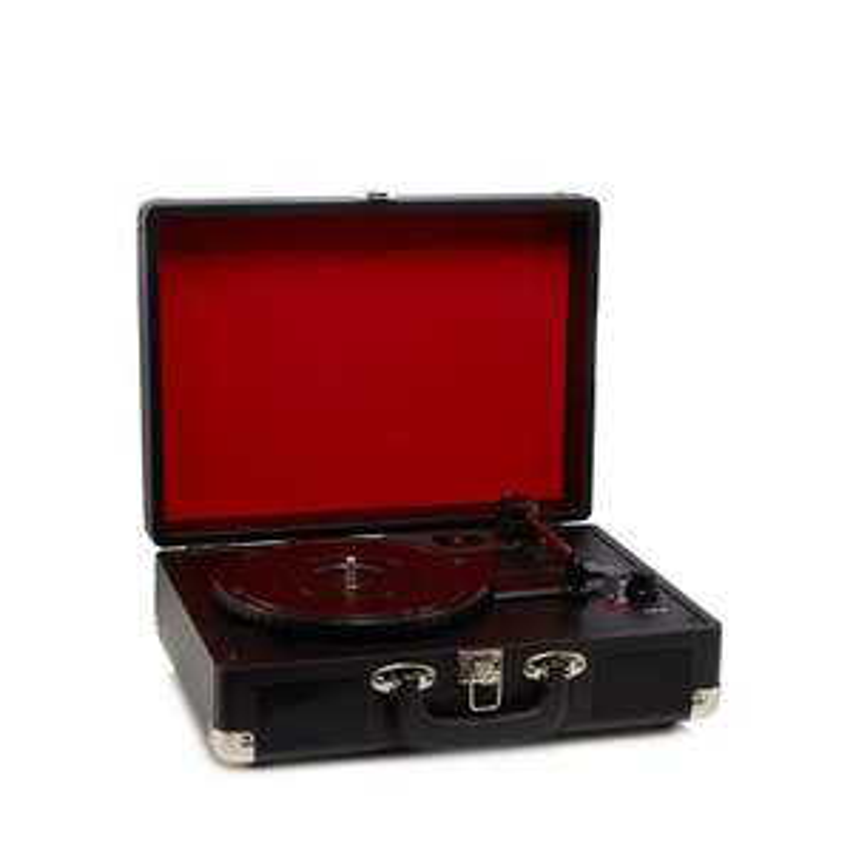 Amplified-Black vinyl record player - Debenhams - £21
