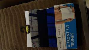 3 Pack A-Front Fly Trunks/Boxers - Blue M - Size L - £2 instore @ Asda (Watford)