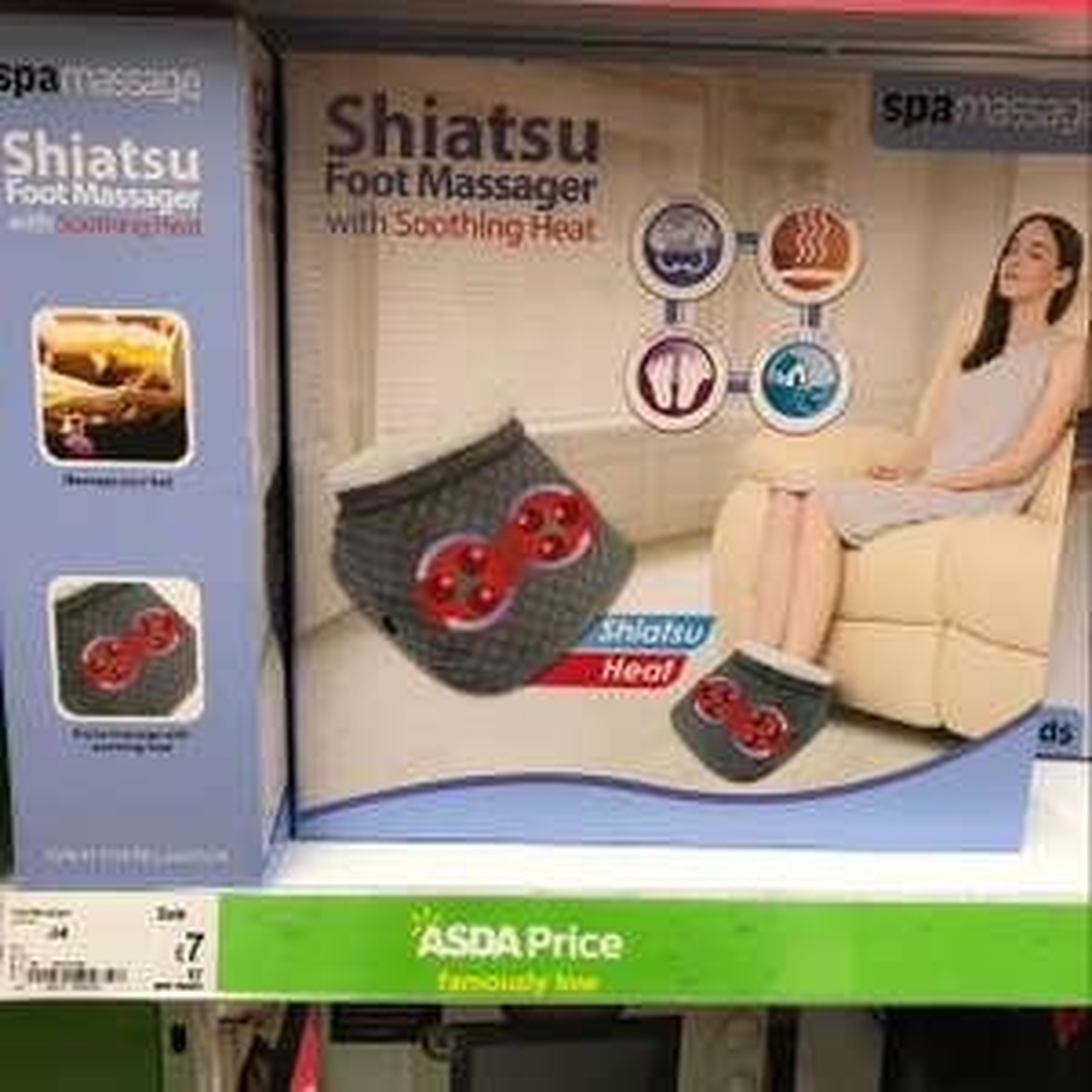 Shiatsu foot massager for £7 half price sale at ASDA