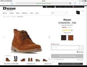 Dune London tan boots was £110 now £44 (free C&C)