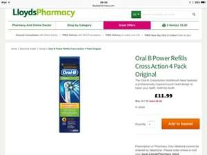 Oral b replacement heads were £17.99 now £11.99 at Lloyds Pharmacy